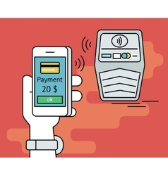mobile payment via smartphone nfc vector image vector image