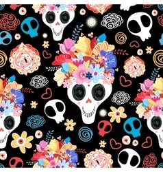 The beautiful of skulls vector image