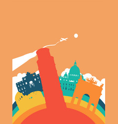 travel italy world landmark landscape vector image vector image