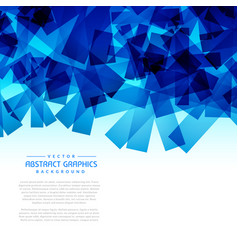 Abstract blue shapes background graphic vector