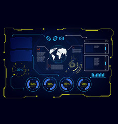 abstract future hud ui gui interface screen hi vector image