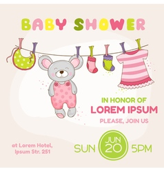 bamouse shower card - with place for your text vector image
