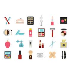 beauty element icon set flat style vector image