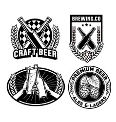 beer badges collection vector image