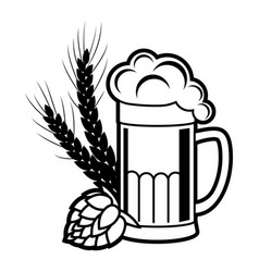 beer brewing icon vector image