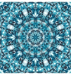 Blue decorative kaleidoscope pattern vector