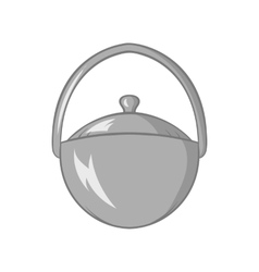 Bowler for food icon black monochrome style vector