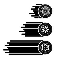 car wheels move track vector image