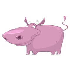 cartoon character hippopotamus vector image