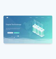 concept server hosting server room icon vector image