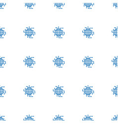 cpu planet icon pattern seamless white background vector image