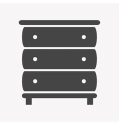 Cupboard icon Trendy Simple vector image