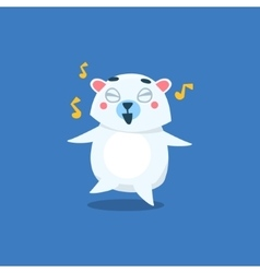 Dancing Polar Bear vector