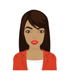 dark skin woman in flat style vector image