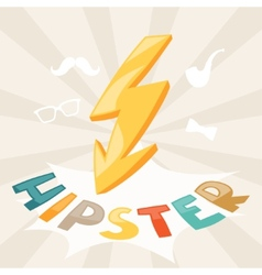 Design with lightning in hipster style vector