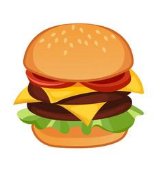 Double meat hamburger vector