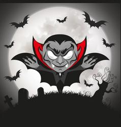 dracula vampire halloween vector image