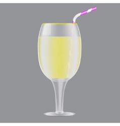 drinking straw vector image