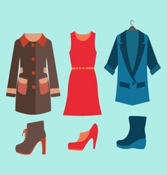 Fashion collection of spring and Autumn woman vector image