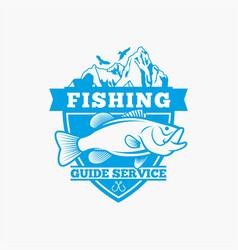 fishing fishing logo badge 4 vector image