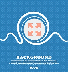 Full screen icon sign Blue and white abstract vector
