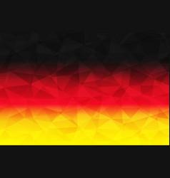 germany flag polygonal vector image