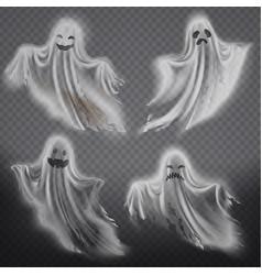 ghosts phantoms set halloween spooky vector image