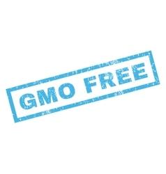 GMO Free Rubber Stamp vector