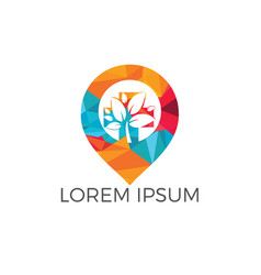 gps garden logo design vector image