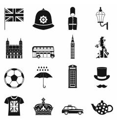 Great Britain icons set simple style vector image