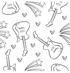 guitar music pattern style collection vector image