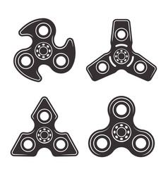 hand spinners set of four types elements vector image