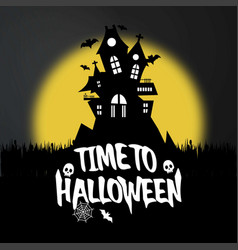 happy halloween invitation card with creative vector image