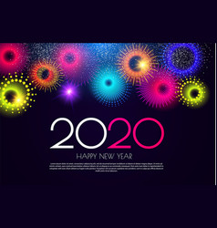 happy new 2020 year colorful design template vector image