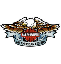 Harley-davidson eagle 3 vector