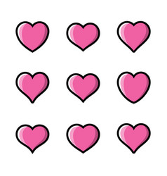 heart icon collection symbol love vector image