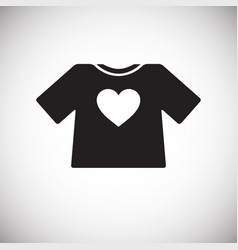 Heart t-shirt icon on white background for graphic vector