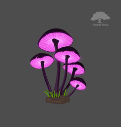 Icon of purple fantasy mushroom game asset vector