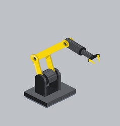 industrial robot arm isometric vector image