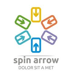 infinity arrow design symbol icon vector image