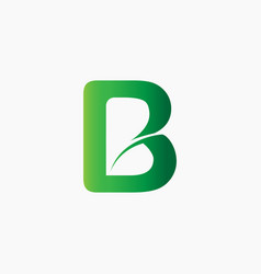 letter b nature logo vector image