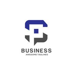 letter sp logo vector image
