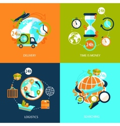 Logistic icons set vector image