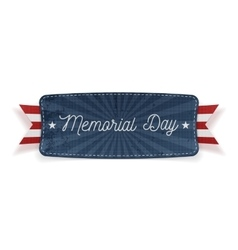 Memorial Day Banner with Text and Shadow vector image