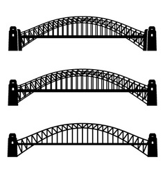 metal Sydney Harbour bridge black symbol vector image