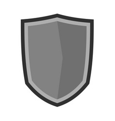 military shield icon flat style vector image
