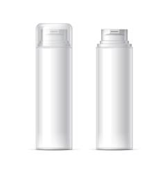 Mock up Shaving gel foam light gray vector