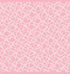 Modern hand drawn light pink doodle mesh grid vector