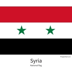 national flag syria with correct proportions vector image