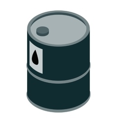Oil barrel isometric 3d icon vector